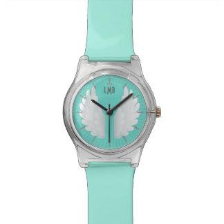 モノグラムの天使の翼 腕時計