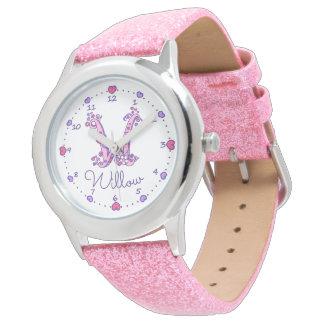 モノグラムの女の子の手紙Wの芸術のヤナギの名前の腕時計 腕時計
