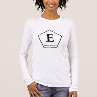 モノグラムの女性のアメリカの服装の罰金ジャージーLon Tシャツ