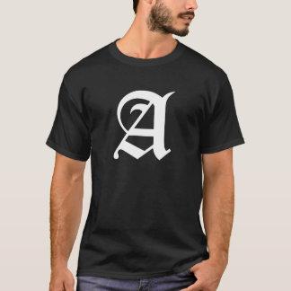 """モノグラムの手紙「A """" Tシャツ"""