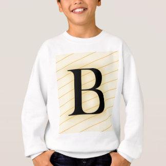 モノグラムの手紙- B スウェットシャツ