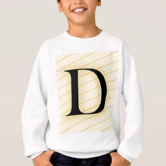 モノグラムの手紙- D (オレンジ) スウェットシャツ