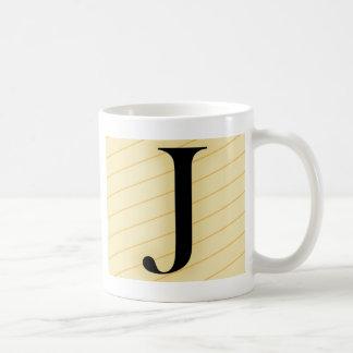 モノグラムの手紙- J (オレンジ) コーヒーマグカップ