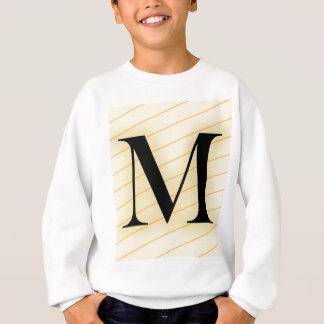 モノグラムの手紙- M (オレンジ) スウェットシャツ