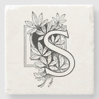 モノグラムの手紙「S」のコラージュ ストーンコースター