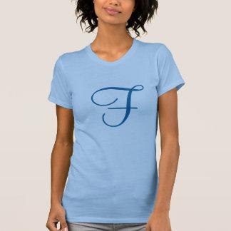 モノグラムの手紙F Tシャツ