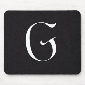 モノグラムの手紙G マウスパッド