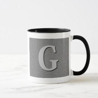 モノグラムの手紙G マグカップ