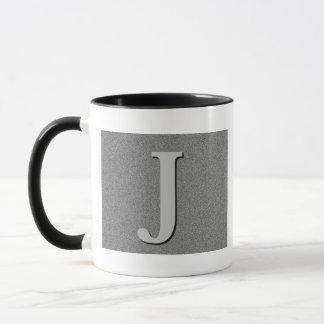 モノグラムの手紙J マグカップ