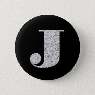 モノグラムの手紙J 5.7CM 丸型バッジ