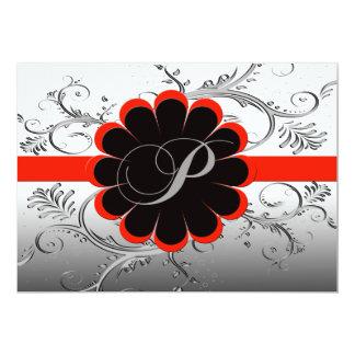 モノグラムの手紙Pの招待状 カード