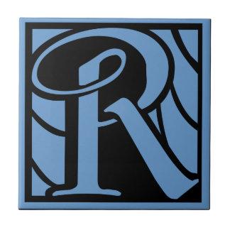 モノグラムの手紙R タイル