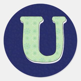 モノグラムの手紙U ラウンドシール