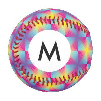 モノグラムの抽象的な正方形のベクトルモザイク 野球ボール