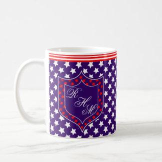 モノグラムの星条旗 コーヒーマグカップ