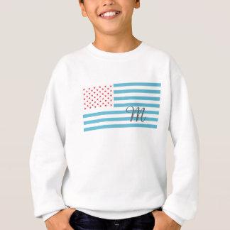 モノグラムの星条旗 スウェットシャツ