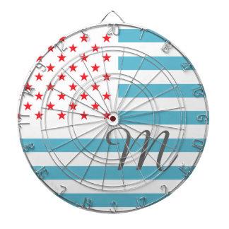 モノグラムの星条旗 ダーツボード