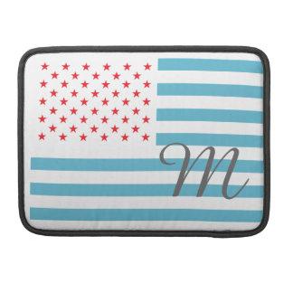 モノグラムの星条旗 MacBook PROスリーブ