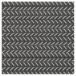 モノグラムの最初のパターン、白の手紙N ファブリック