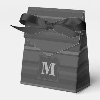 モノグラムの木炭は縞で飾ります フェイバーボックス