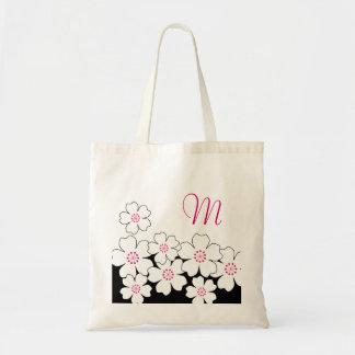 モノグラムの桜の新婦付添人のトート トートバッグ