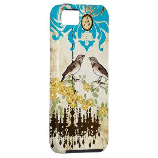 モノグラムの桜の鳥のシャンデリアのiPhone iPhone SE/5/5s ケース