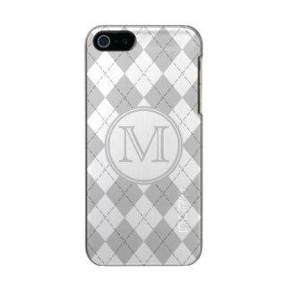 モノグラムの灰色および白くアーガイル柄のなiPhone 5の箱 メタリックiPhone SE/5/5sケース