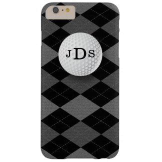 モノグラムの灰色のアーガイル、ゴルフ・ボールのiPhone 6のプラスの場合 Barely There iPhone 6 Plus ケース
