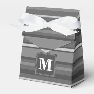 モノグラムの灰色のストライブ柄 フェイバーボックス