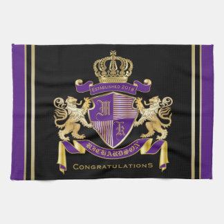 モノグラムの王冠の紋章あなた自身の紋章付き外衣を作って下さい キッチンタオル