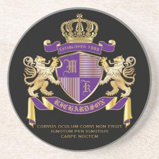 モノグラムの王冠の紋章あなた自身の紋章付き外衣を作って下さい コースター