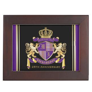 モノグラムの王冠の紋章あなた自身の紋章付き外衣を作って下さい ジュエリーボックス