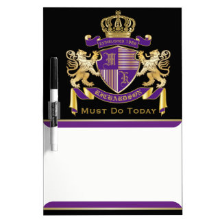 モノグラムの王冠の紋章あなた自身の紋章付き外衣を作って下さい ホワイトボード