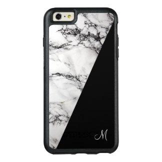 モノグラムの白い灰色および黒い大理石の石造りの質 オッターボックスiPhone 6/6S PLUSケース