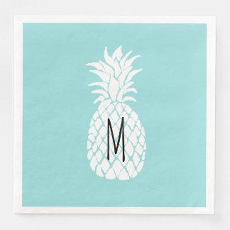 モノグラムの白のパイナップル