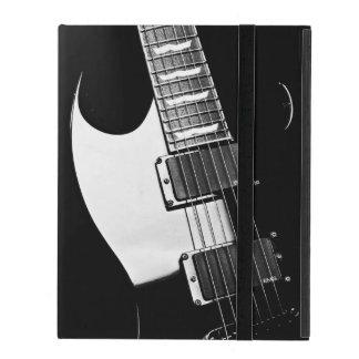 モノグラムの白黒ギター音楽 iPad ケース