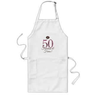 モノグラムの第50誕生日のすばらしく及び激しいエプロン ロングエプロン