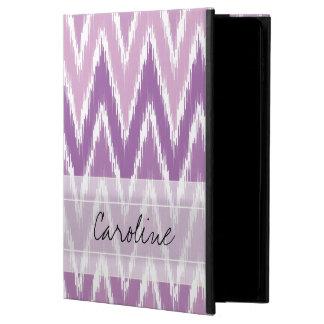 モノグラムの紫色のグラデーションなイカットのシェブロンのジグザグパターン POWIS iPad AIR 2 ケース