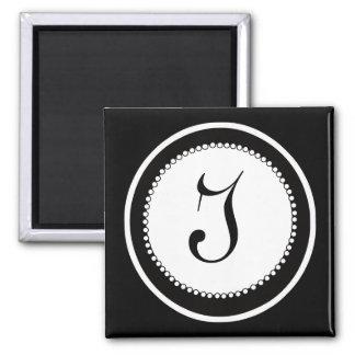 モノグラムの結婚式の磁石 磁石