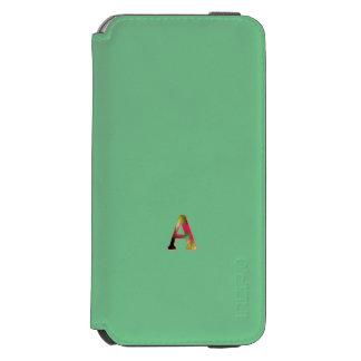 モノグラムの緑のスタイルのiPhone 6/6sの財布カバー Incipio Watson™ iPhone 6 ウォレットケース