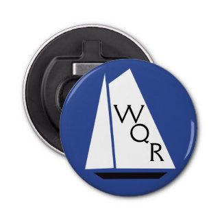モノグラムの航海のな船の結婚式の引き出物 栓抜き