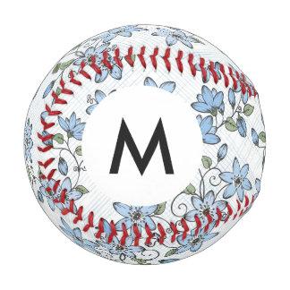 モノグラムの花パターン2 3 野球ボール