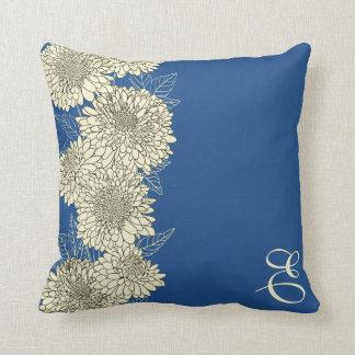 モノグラムの花柄の空想の枕 クッション