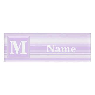 モノグラムの薄紫は縞で飾ります 名札