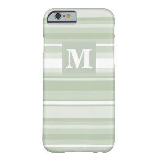 モノグラムの薄緑のストライブ柄 BARELY THERE iPhone 6 ケース