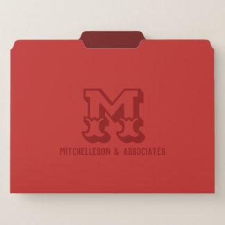 モノグラムの西部の赤 ファイルフォルダー
