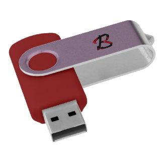 モノグラムの赤い紫色USBの旋回装置のフラッシュドライブ USBフラッシュドライブ