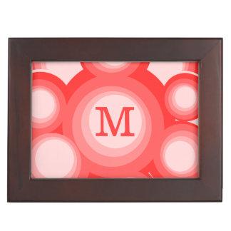 モノグラムの赤く、ピンクのリングや輪 ジュエリーボックス