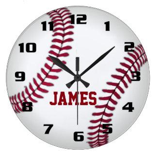 モノグラムの野球 ラージ壁時計
