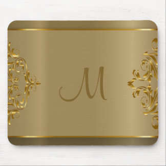 モノグラムの金ゴールドのOranteのデザイン マウスパッド
